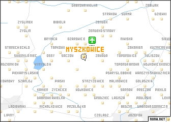map of Myszkowice