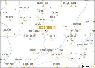 map of Mzerguia
