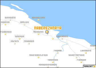 map of Naberezhnaya
