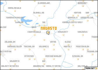 map of Nádas-tó