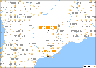 map of Nadsadan