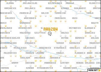map of Nadzów