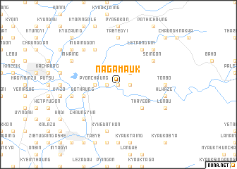 map of Nagamauk