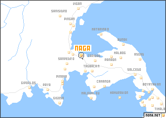 map of Naga