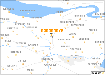 map of Nagornoye