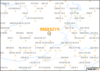 map of Nagoszyn