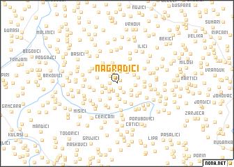 map of Nagradići