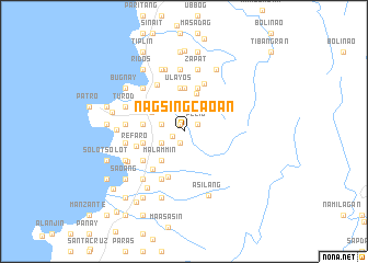 map of Nagsingcaoan