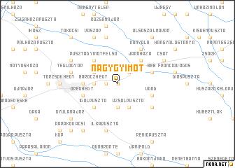 map of Nagygyimót