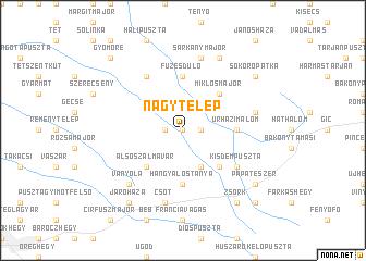 map of Nagytelep