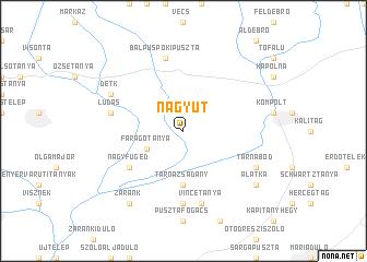 map of Nagyút