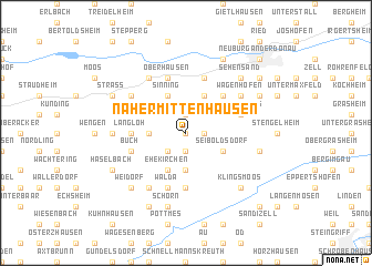 map of Nähermittenhausen