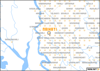 map of Naihāti