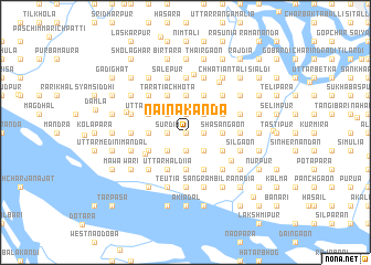 map of Nainākānda