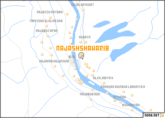 map of Naj' ash Shawārib