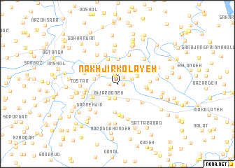 map of Nakhjīr Kolāyeh