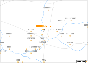 map of Nakigaza
