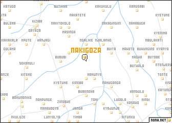 map of Nakigoza