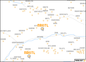 map of Nakitl\