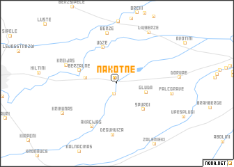 map of Nākotne