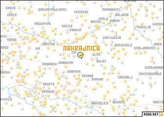 map of Nakrajnica