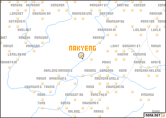 map of Nā-kyeng