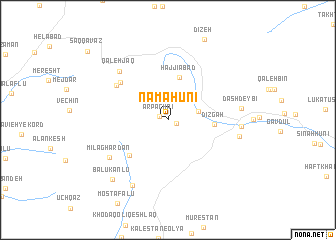 map of Namāhūnī