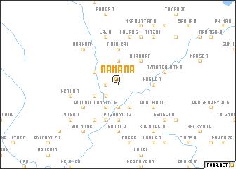 map of Namana