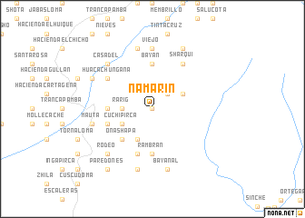 map of Ñamarín