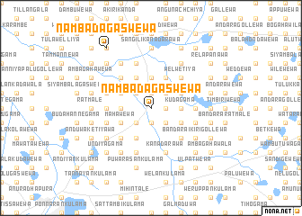 map of Nambadagaswewa
