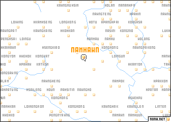 map of Nam-hawn