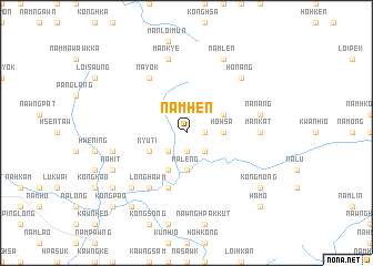 map of Nam-hen
