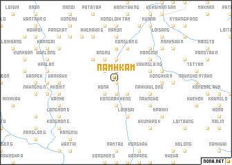 map of Namhkam