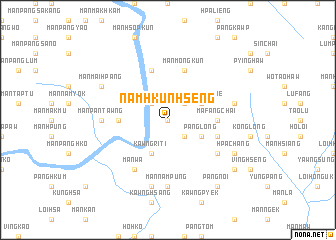 map of Namhkunhseng