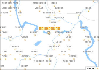 map of Nam Hpaung