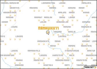 map of Namhu-ikkyi