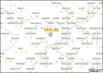 map of Nam-lao