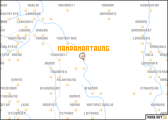 map of Nampaman Taung