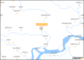 map of Namsan