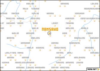 map of Namsa-wo