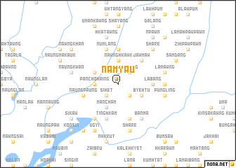 map of Namyau
