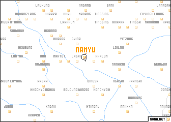 map of Namyu