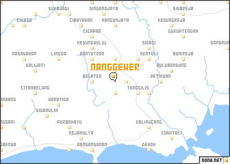 map of Nanggewer