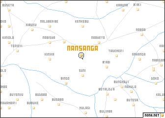 map of Nansanga