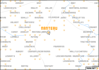 map of Nanteau