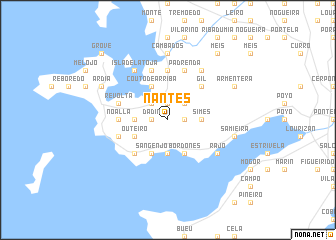 map of Nantes
