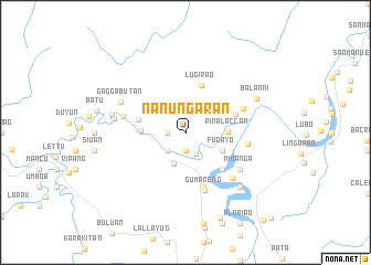 map of Nanungaran