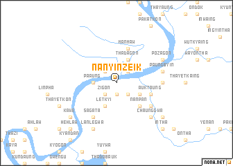 map of Nanyinzeik