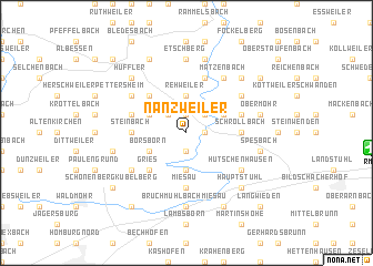 map of Nanzweiler