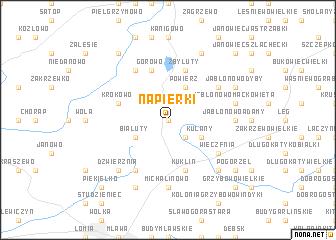 map of Napierki